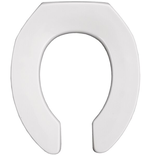 Medic-Aid Open Front Round Raised Toilet Seat by B