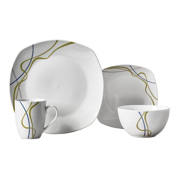 Eckard 16 Piece Dinnerware Set, Service for 4 by Ebern Designs