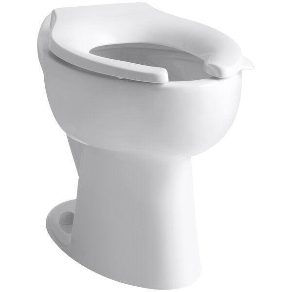 Highcrest 1.6 GPF 16-1/2 Ada Elongated Toilet Bowl with Rear Inlet, Requires Seat by Kohler