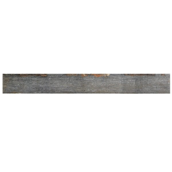Rama 2.75 x 23.5 Porcelain Wood Look/Field Tile in Gray by EliteTile