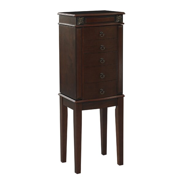 Russellville Free Standing Jewelry Armoire with Mirror by Three Posts