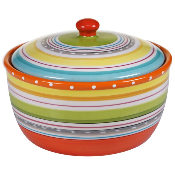 Giddings 2.5-qt. Round Casserole Dish with Lid by Andover Mills