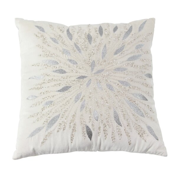 Almondsbury Modern Metallic Embroidery Throw Pillow by House of Hampton