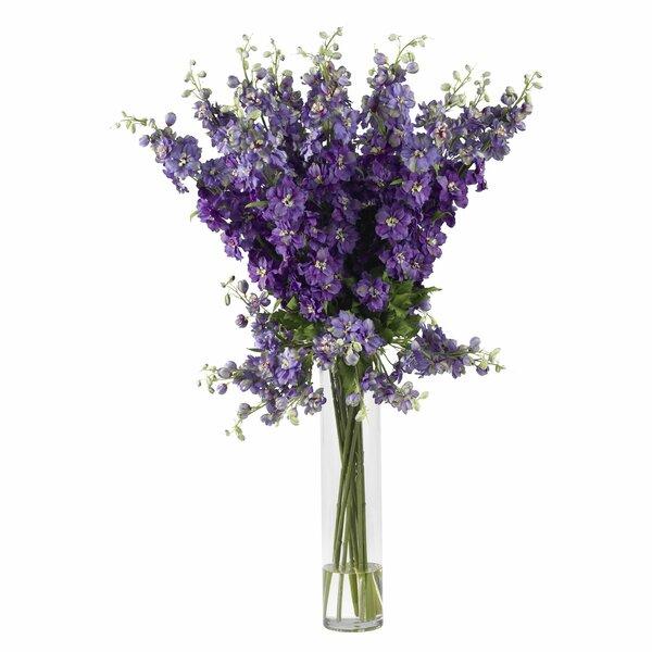 Delphinium Silk Flower Arrangement by Nearly Natural