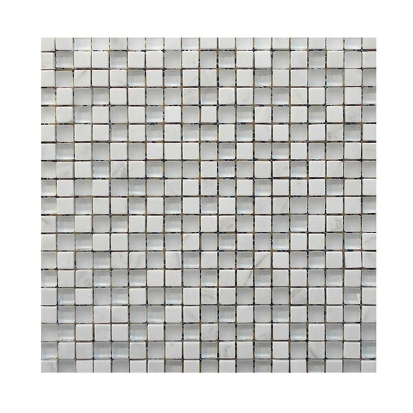 Glass Mosaic Tile in White by QDI Surfaces