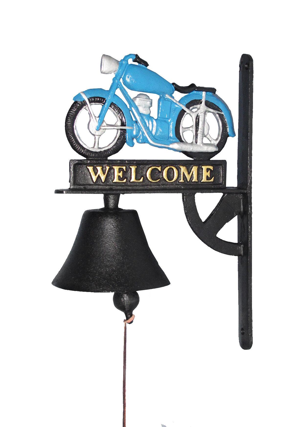Charlton Home Motorbike Doorbell Cast Iron Door Chime Wayfair How To Add A Second