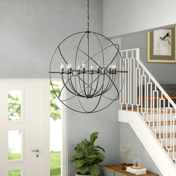 Geyer 12-Light Candle Style Globe Chandelier By Brayden Studio