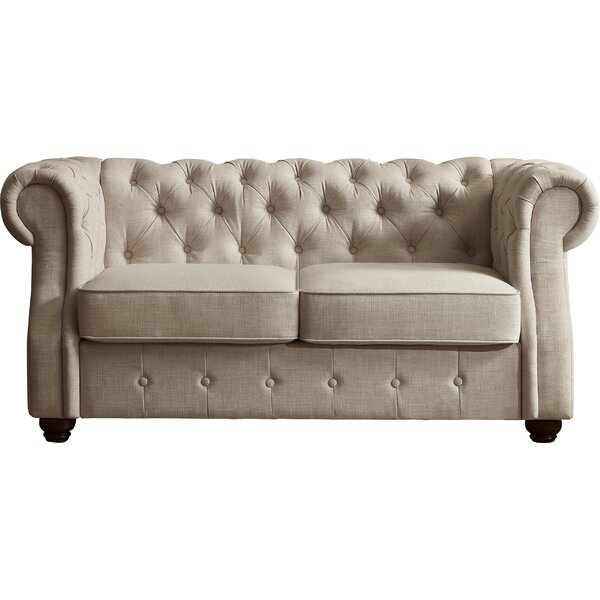 Stowmarket Chesterfield Loveseat by Three Posts