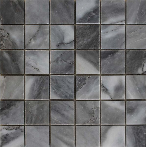 2 x 2 Mosaic Tile in Bardiglio by Ephesus Stones