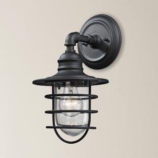Best Finnigan 1-Light Outdoor Barn Light By Beachcrest Home