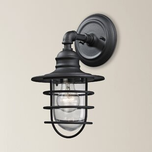 Savings Finnigan 1-Light Outdoor Barn Light By Beachcrest Home