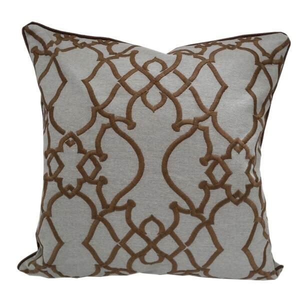 Godines Embroidered Geometric Throw Pillow by Alcott Hill