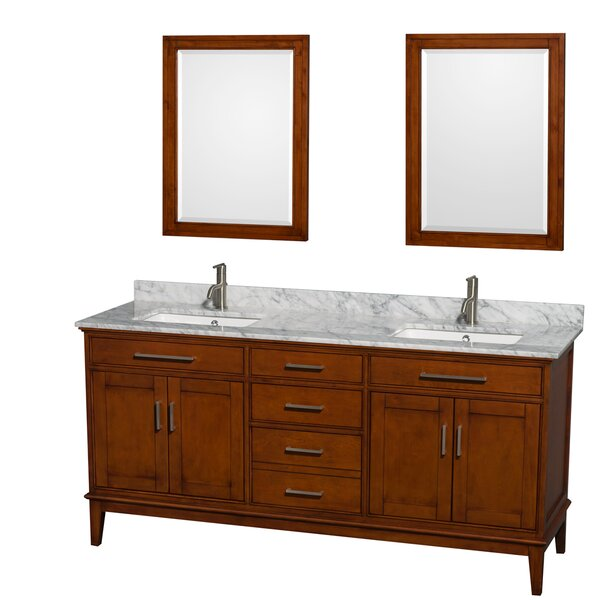 Hatton 72 Double Bathroom Vanity Set with Mirror