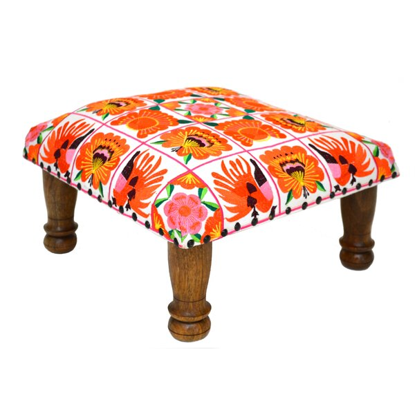 Embroidered Ottoman by Divine Home