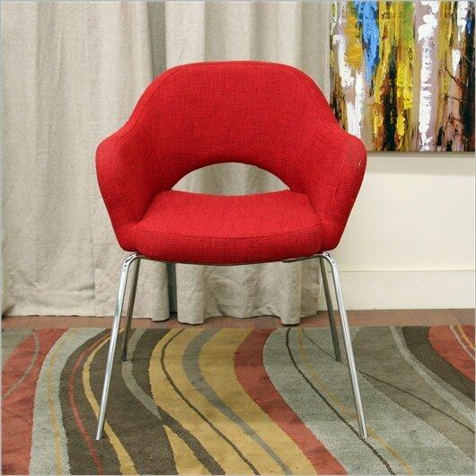 Calla Mid-Century Modern Twill Executive Arm Chair by Latitude Run