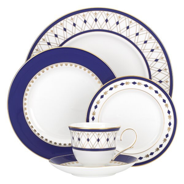 Royal Grandeur Bone China 5 Piece Place Setting, Service for 1 by Lenox
