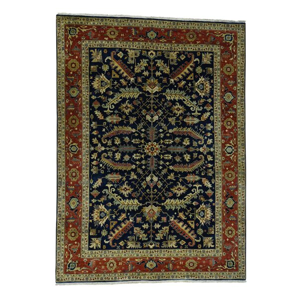 One-of-a-Kind Newcastle New Zealand Oriental Hand-Knotted Wool Blue Area Rug by Astoria Grand