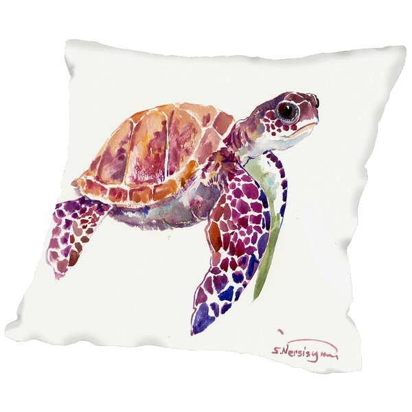 Sea Turtle Throw Pillow by East Urban Home