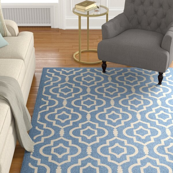 Larson Blue/Beige Indoor/Outdoor Area Rug by Sol 72 Outdoor