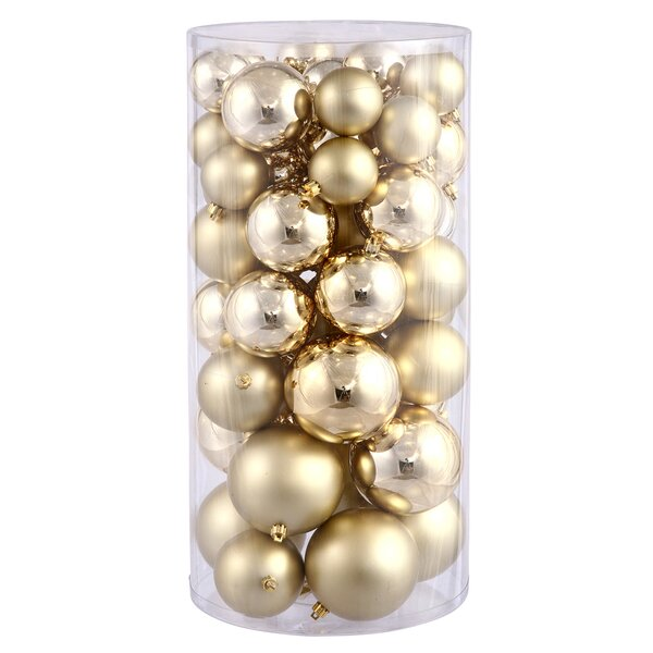Ball Ornament Set in Gold (Set of 50) by The Holiday Aisle