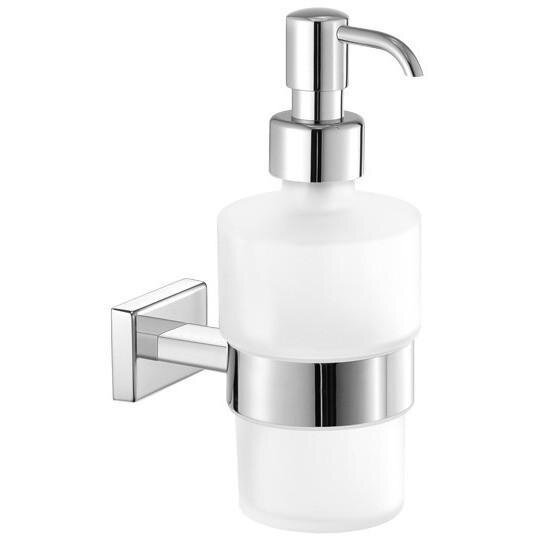 Skillman Wall Frosted Glass Pump Soap & Lotion Dispenser by Orren Ellis