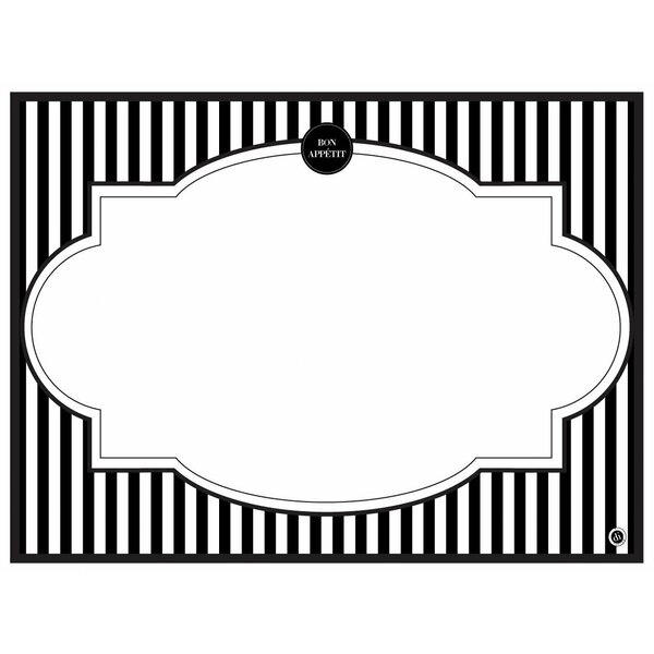 Modern Menu Placemat (Set of 24) by di Potter