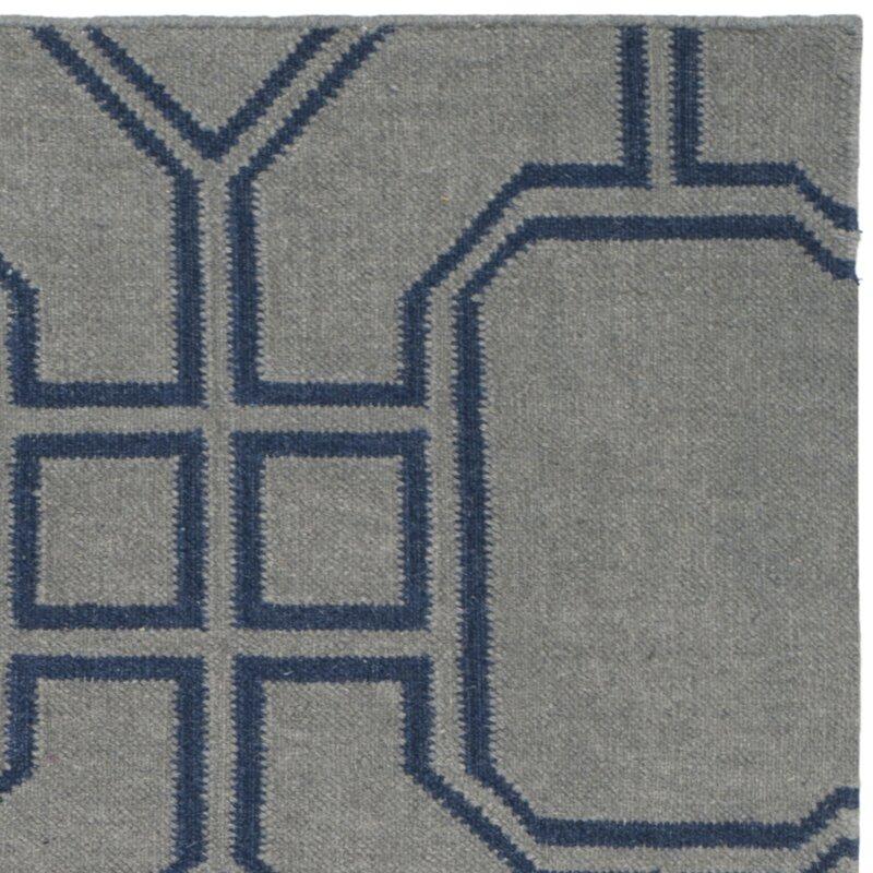 safavieh handgefertigter teppich dhurrie caleb aus wolle in grau blau bewertungen. Black Bedroom Furniture Sets. Home Design Ideas
