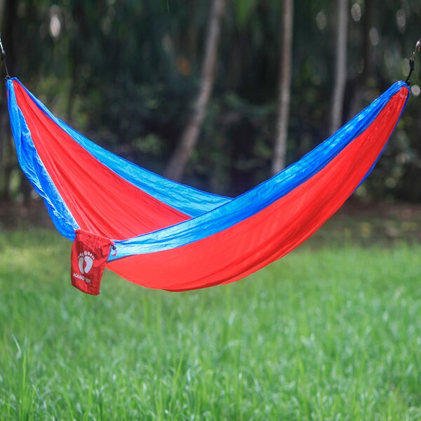 Hang Ten Parachute Nylon Camping Hammock by Novica