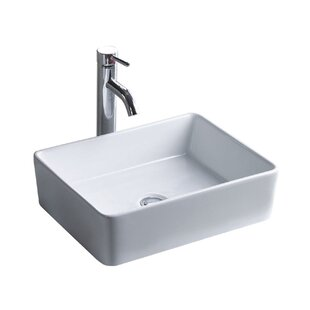 Shopping for China Luxe Ceramic Rectangular Vessel Bathroom Sink By Wells Sinkware