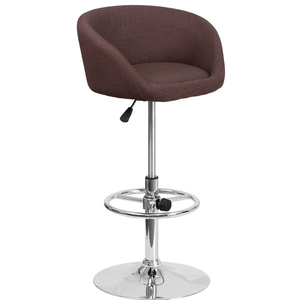 Nordin Adjustable Height Swivel Bar Stool by Orren Ellis