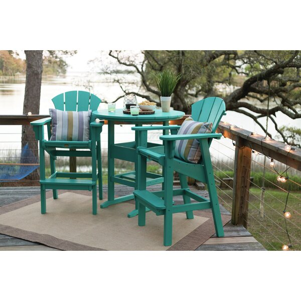 Yeager 3 Piece Dining Set by Rosecliff Heights