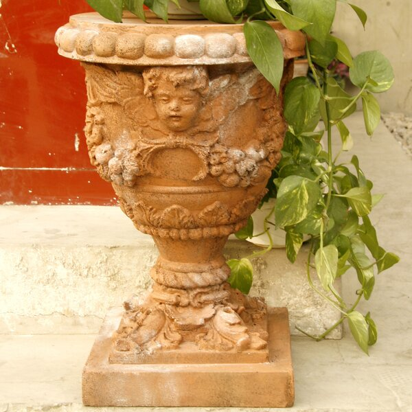 Angel Fiberstone Urn Planter by OrlandiStatuary