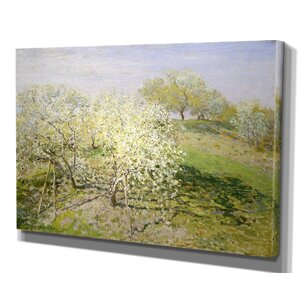 'Fruit Trees in Bloom' by Claude Monet Framed Painting Print by Wexford Home