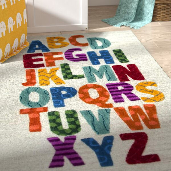 Ashlee Hand-Tufted Blue/Yellow Kids Rug by Zoomie Kids