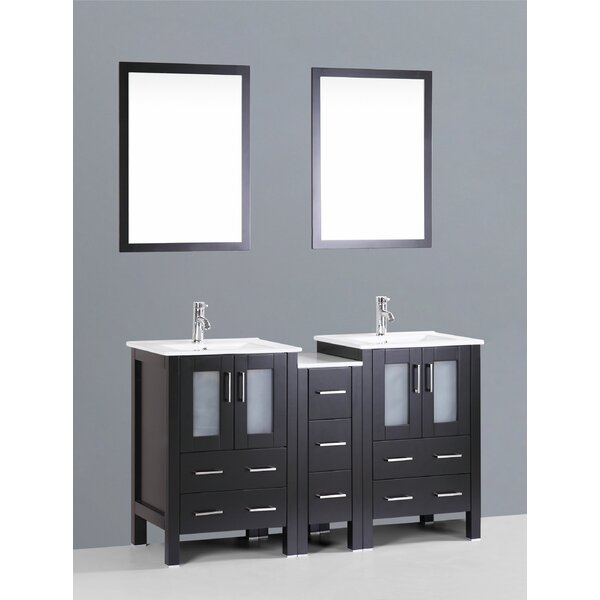 Netto 61 Double Bathroom Vanity Set with Mirror by Ebern Designs