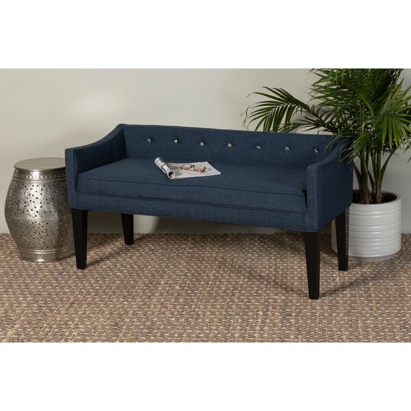 Brokaw Upholstered Bench by House of Hampton House of Hampton