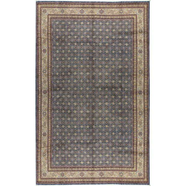 One-of-a-Kind Manchuria Hand-Knotted Blue/Beige 11'9 x 17'9 Wool Area Rug