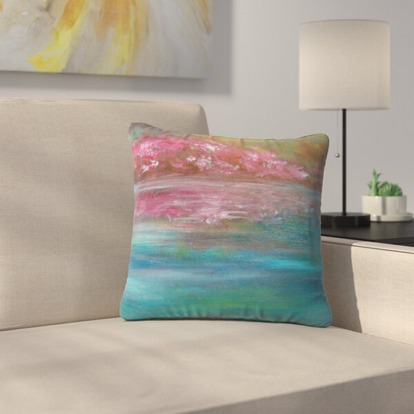 Cyndi Steen Bougainvillea Reflections Outdoor Throw Pillow by East Urban Home