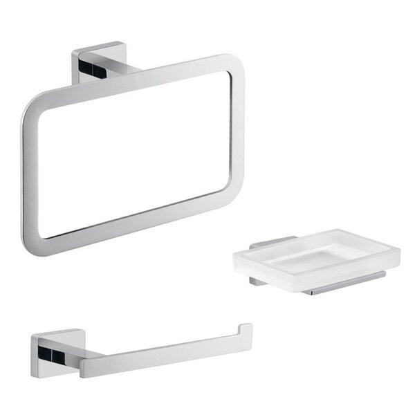 Atena 3 Piece Bathroom Hardware Set by Gedy by Nameeks