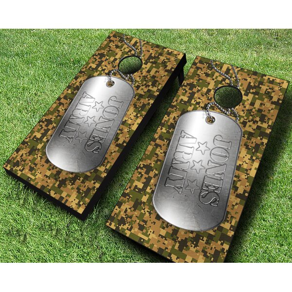 Military Dog Tag Cornhole Set by AJJ Cornhole