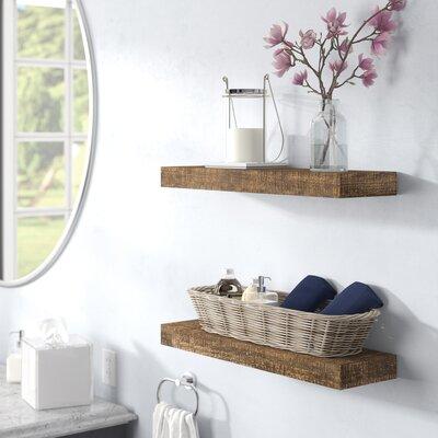 Floating shelves hanging shelves you 39 ll love wayfair - Things to put on shelves in living room ...
