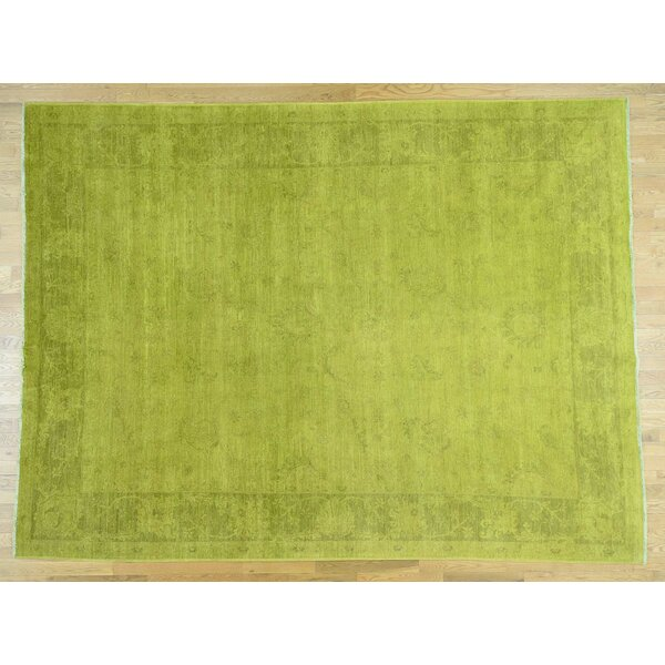 One-of-a-Kind Beaumont Overdyed Light Handwoven Wool Area Rug by Isabelline