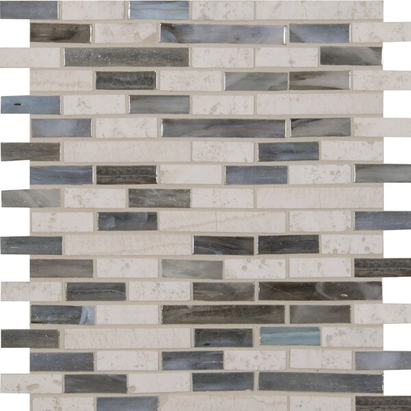 Kaledo Blend Interlocking Glass/Stone Mosaic Tile in Beige by MSI