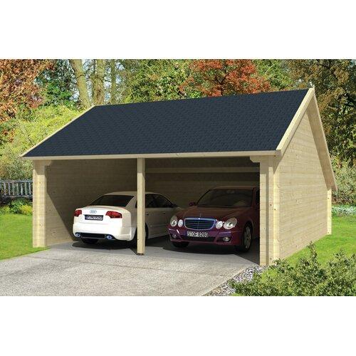 6 m x 6 m Garage Brittni Garten Living Dach: Biberschwanz Schwarz| Fundament: Mit Fundament | Baumarkt > Garagen und Carports > Garagen | Garten Living
