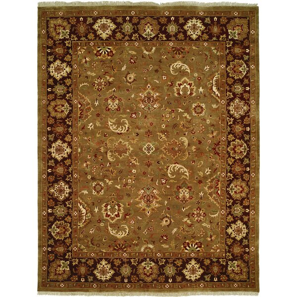 Andra Hand-Woven Brown Area Rug by Meridian Rugmakers