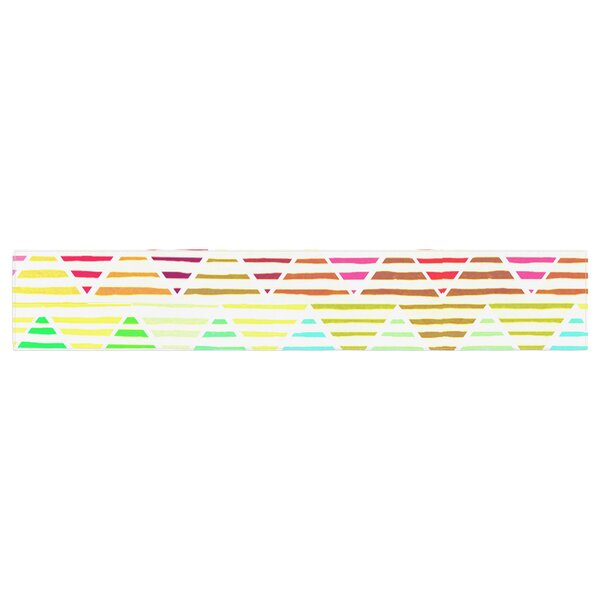 Sreetama Ray Stripes Cushion Chevron Table Runner by East Urban Home
