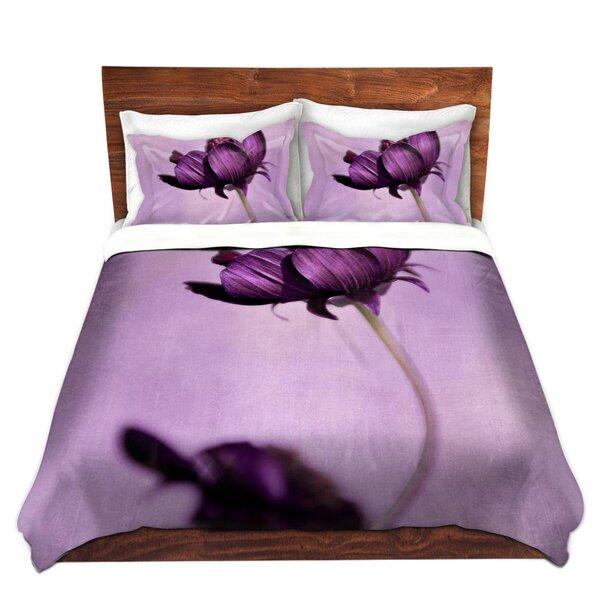Sledge Iris Lehnhardt Purple Blossoms Microfiber Duvet Covers by Ebern Designs