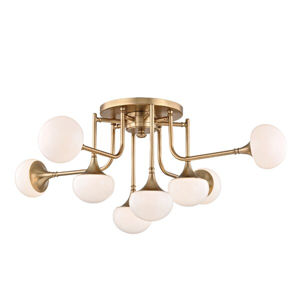 Alongi 8-Light Semi Flush Mount by Langley Street