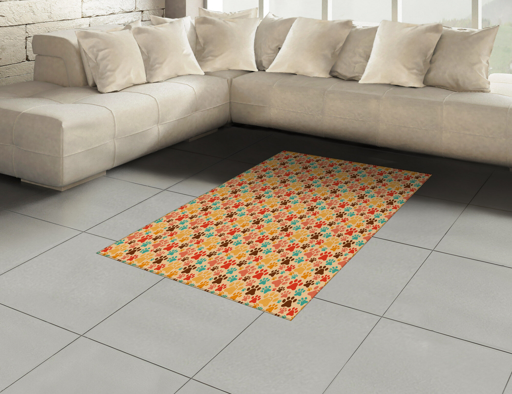 Ambesonne Dog Lover Area Rug