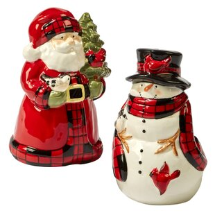 Winter's Plaid 3D Salt & Pepper Shaker Set By Certified International